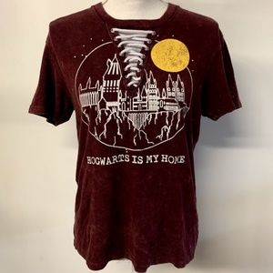 Harry Potter Hogwarts Is My Home Lace Up T-Shirt